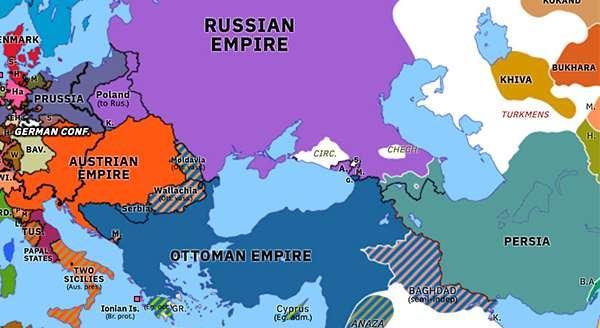1826—1828年,沙俄战胜波斯帝国,将东亚美尼亚地区和北阿塞拜疆地区(今阿塞拜疆的国家雏形)割让给沙俄。
