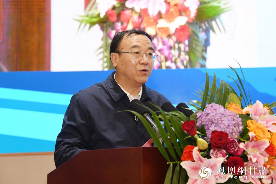 甘肃省副省长李沛兴致辞 丁凯 摄