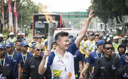 张培萌曾是雅加达亚运会火炬手