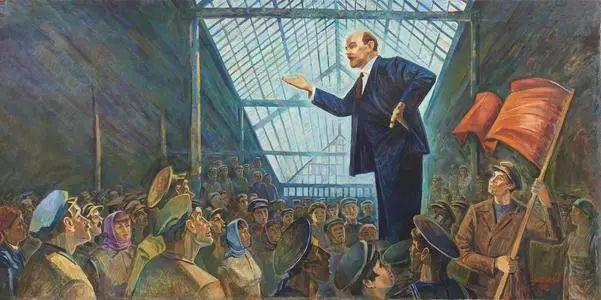 列宁演讲图