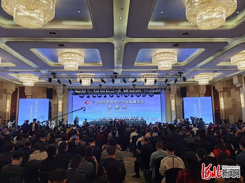 图为2020中国中小企业发展大会开幕式现场。河北日报记者王育民摄