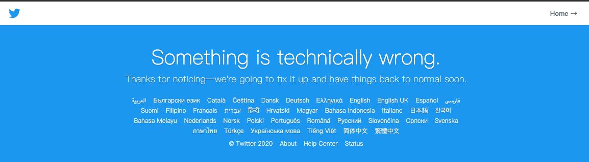 Twitter发生宕机