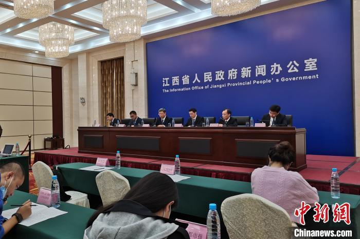 """10月16日,""""2020年江西工业互联网安全技术技能大赛暨全国大赛江西选拔赛""""新闻发布会在南昌举行。 张莹 摄"""