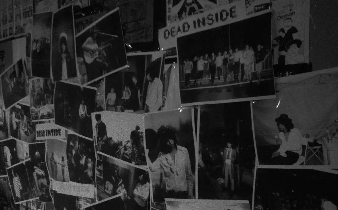 school酒吧内的照片墙