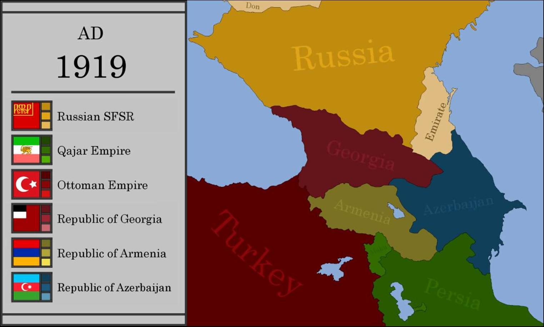 1918年至1919年,亚美尼亚与阿塞拜疆在获得独立后因纳卡地区的归属发生冲突。