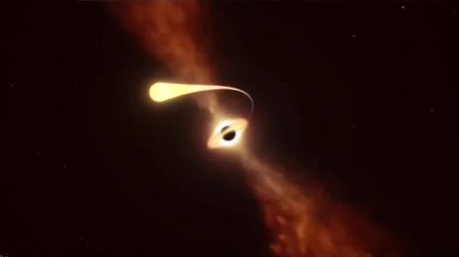 震撼!视频记录黑洞撕裂恒星瞬间