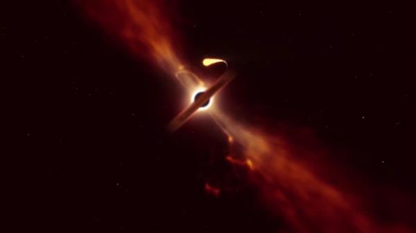 """距离地球最近!一颗恒星被黑洞拉成了""""面条"""""""