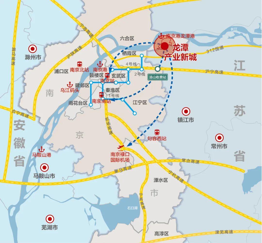 ▲ 龙潭产业新城区位图