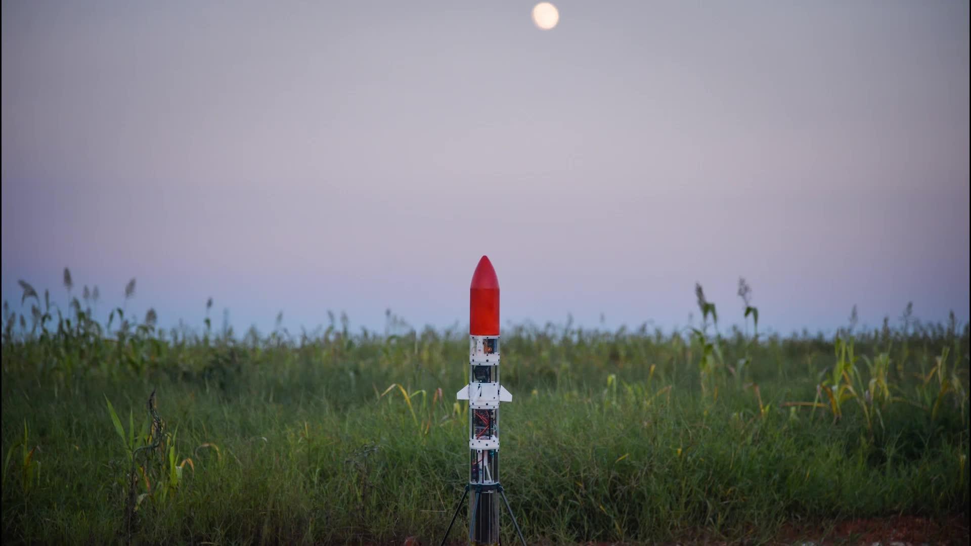 参考视频|南航学生自制火箭发射成功并回收