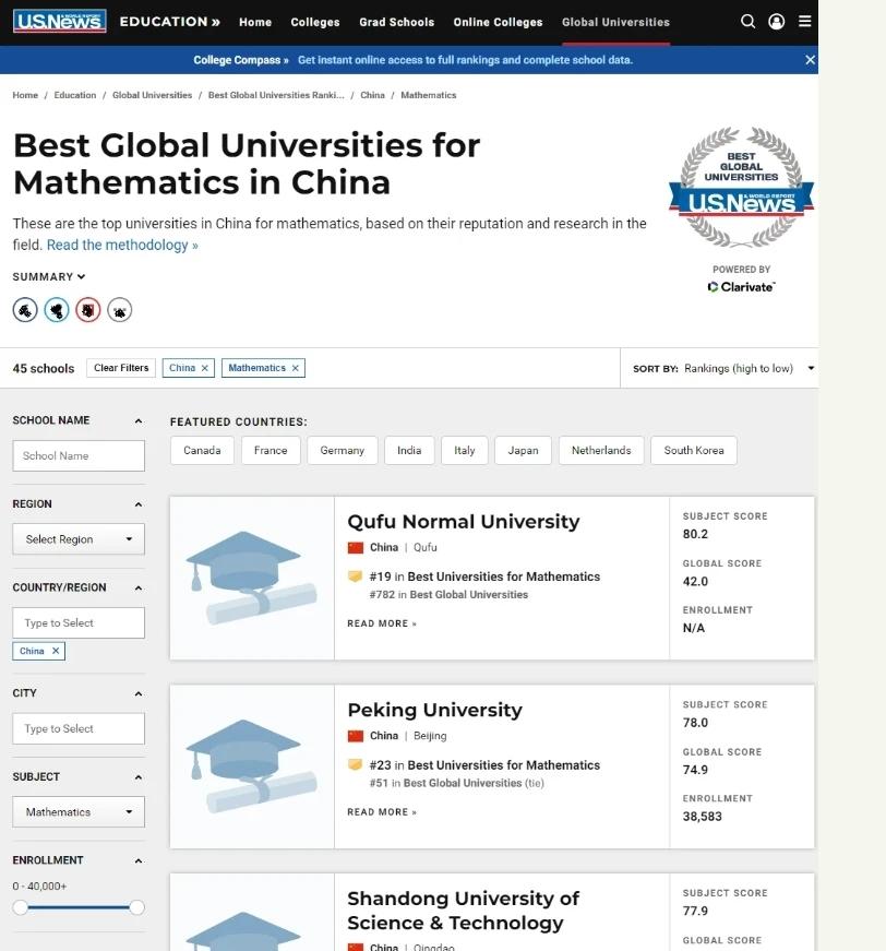 "【btc china】_""数学系排名力压北大清华"",曲阜师大自己信吗?"