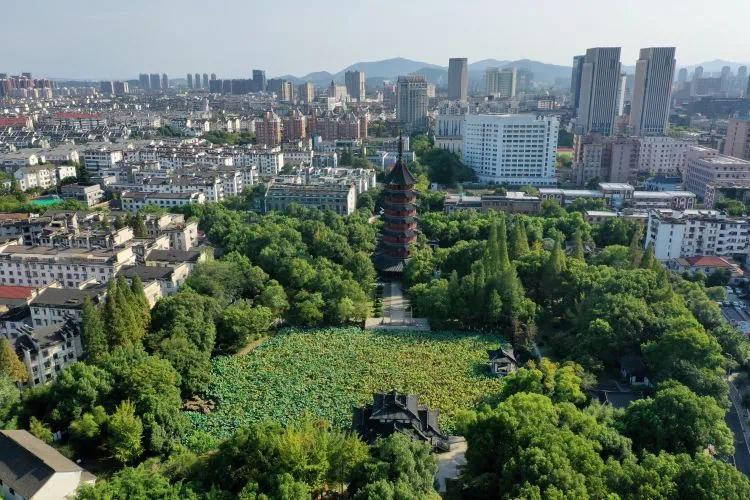 """城市""""绿肺""""美如画 李则名 摄"""