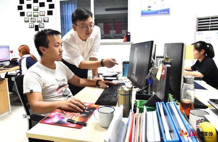 """雄安熙颐易达科技孵化器为在孵企业提供""""科技创新全链条服务""""。通讯员 刘向阳 摄"""