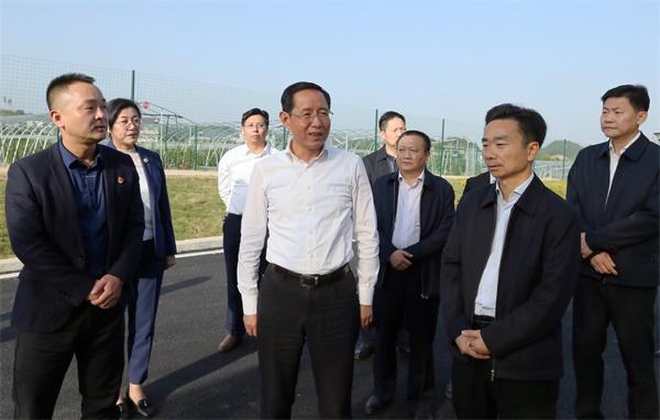 林彬杨到德安县和共青城市调研项目建设、脱贫攻坚等工作