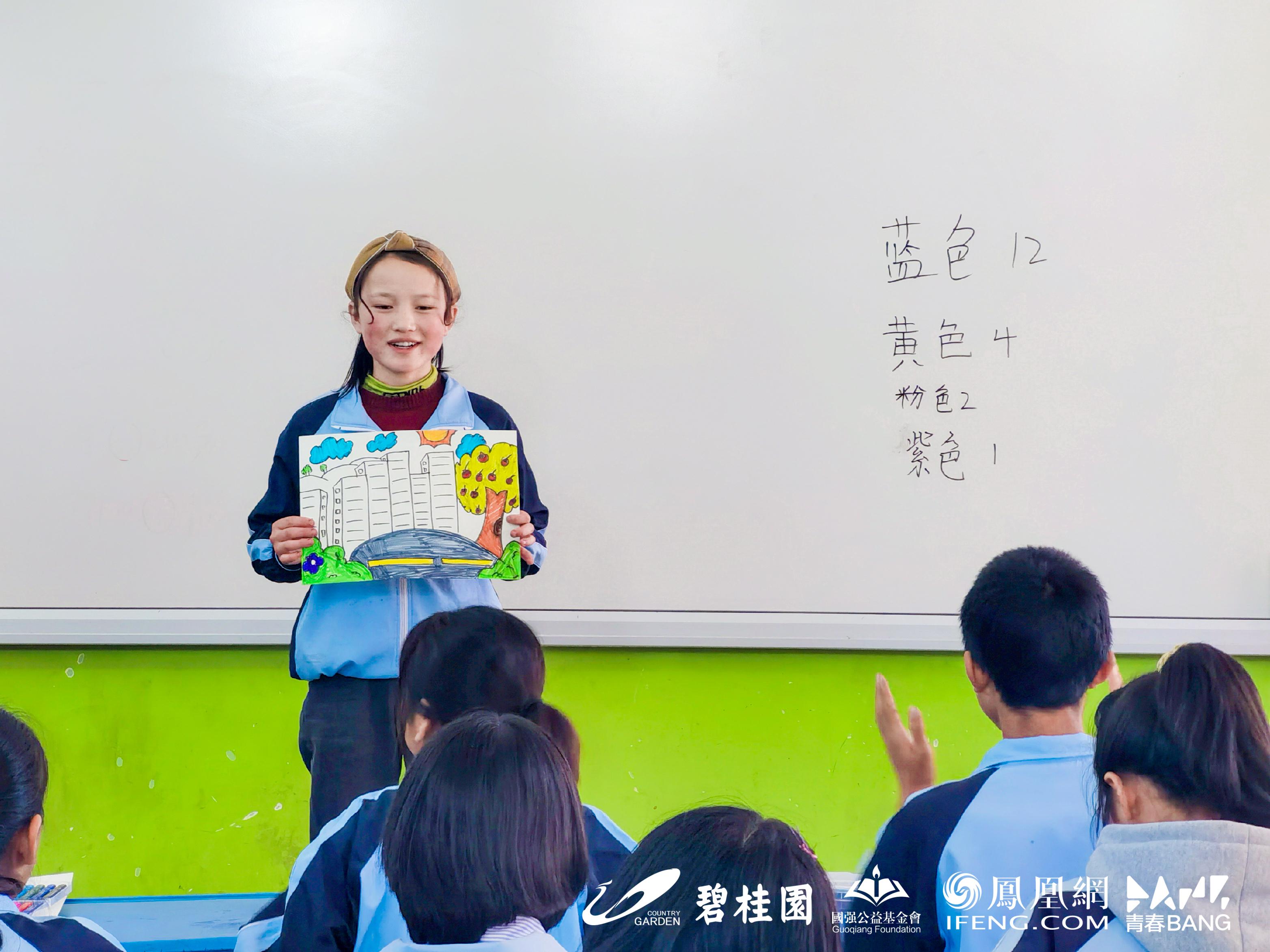 学生展示自己的作品