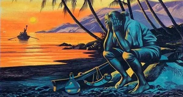 《鲁滨逊漂流记》插图
