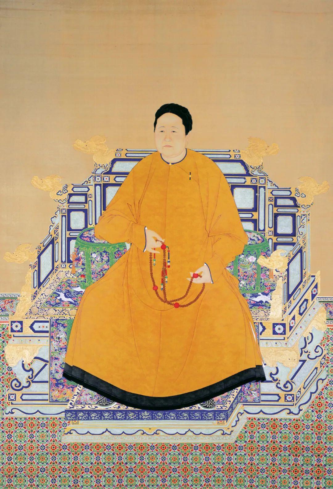 清 佚名 孝庄文皇后常服像 北京故宫博物院藏