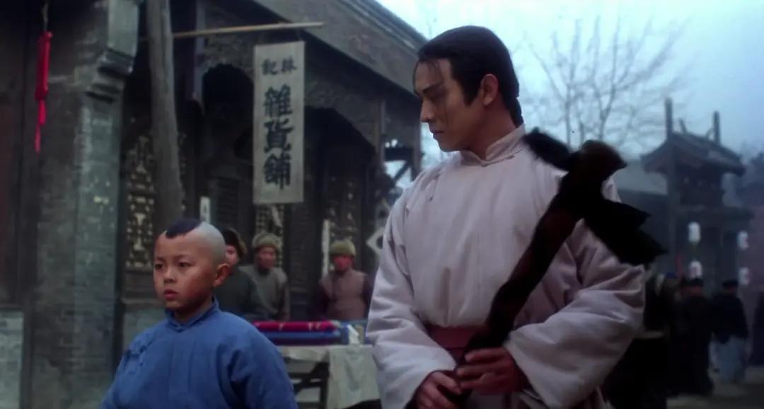 《新少林五祖》中酷酷的父子俩