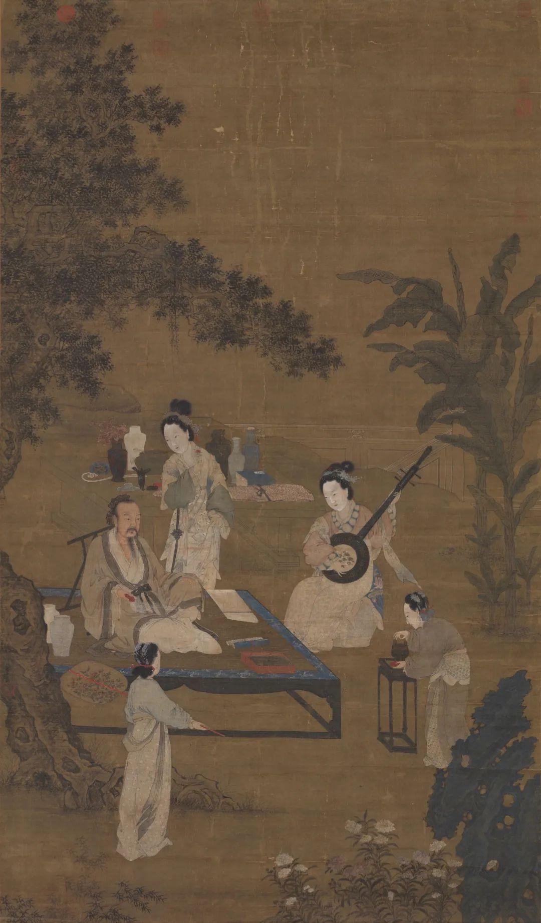 宋 李嵩 听阮图 台北故宫博物院藏