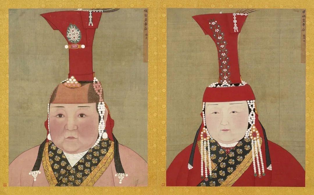 元 佚名 元世祖后 元顺宗后 半身像 台北故宫博物院藏