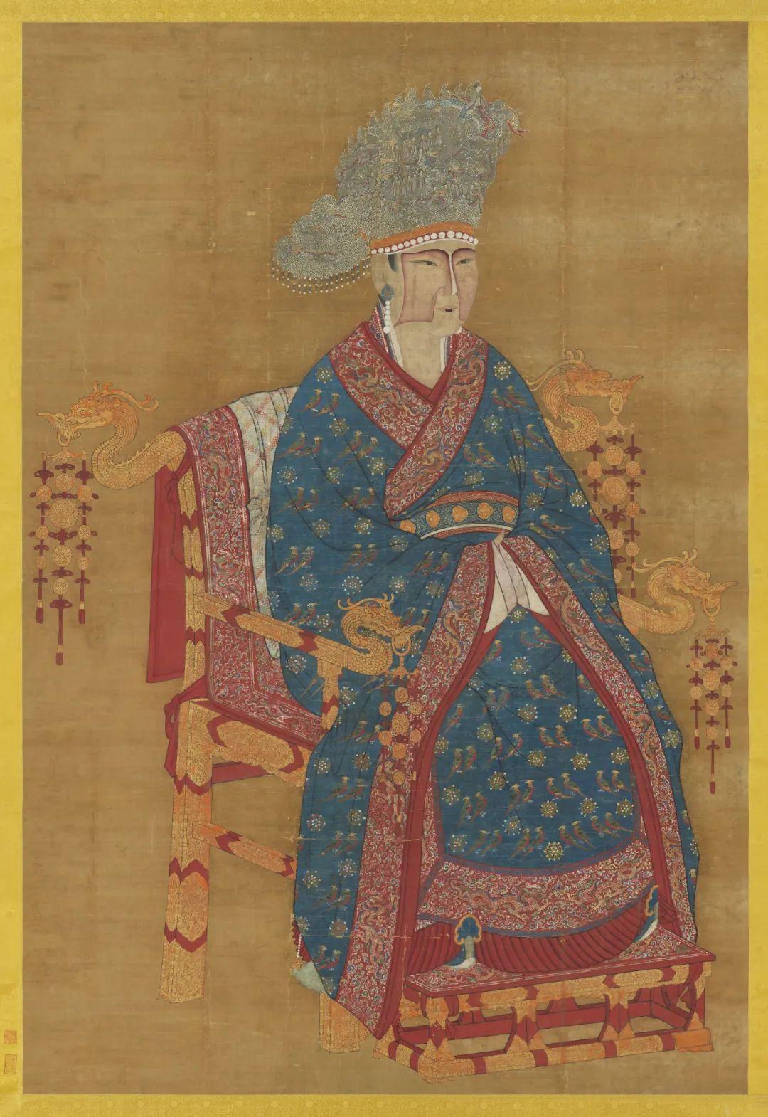 宋 佚名 宋真宗后 坐像 台北故宫博物院藏