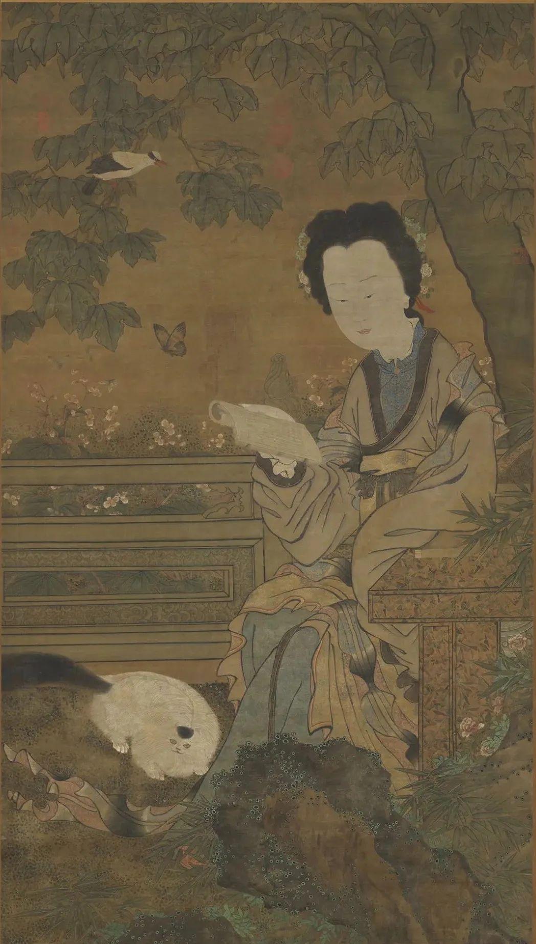 传 五代 周文矩 仕女图轴 台北故宫博物院藏