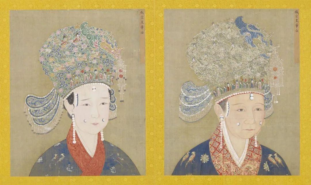 宋 佚名 徽宗后 钦宗后 坐像 局部 台北故宫博物院藏