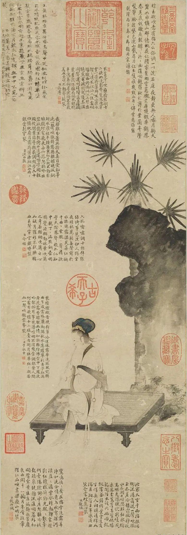 宋末元初 赵孟頫 吹箫仕女图轴 台北故宫博物院藏