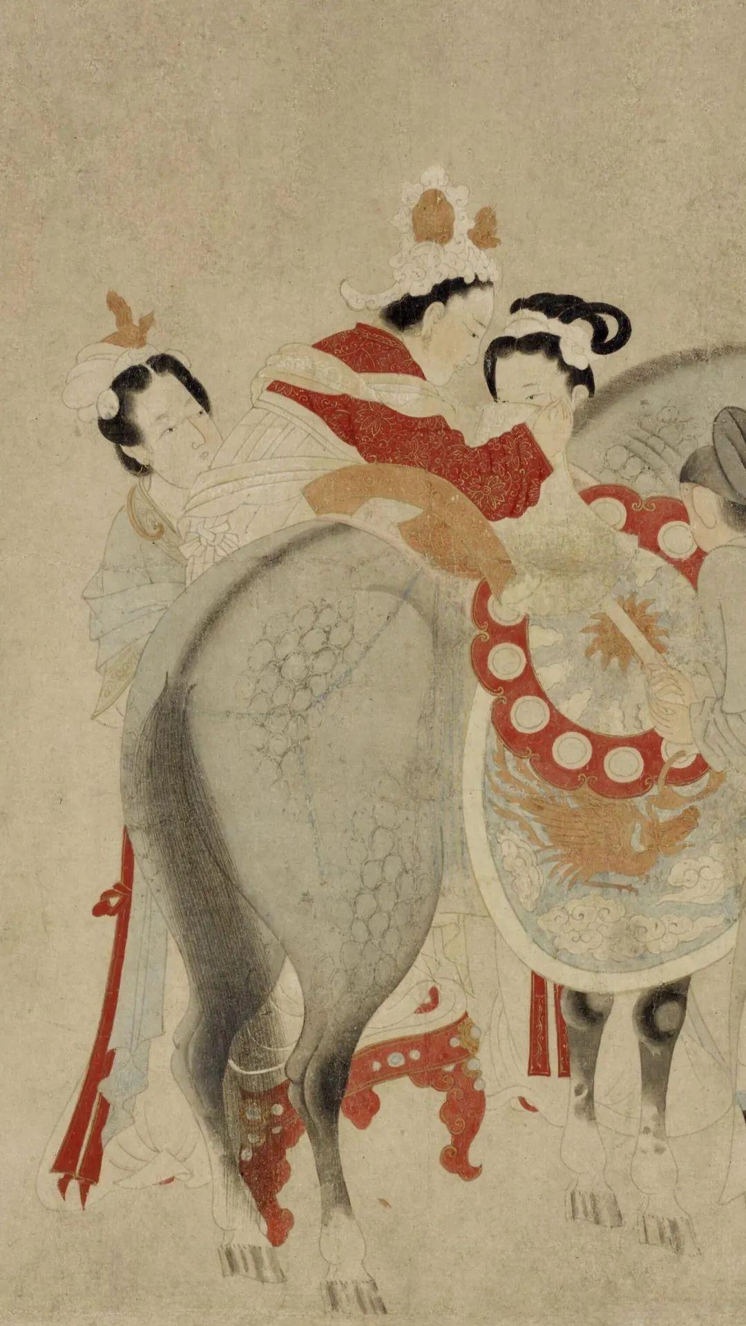 宋末元初 钱选 杨妃上马图卷 弗利尔美术馆藏