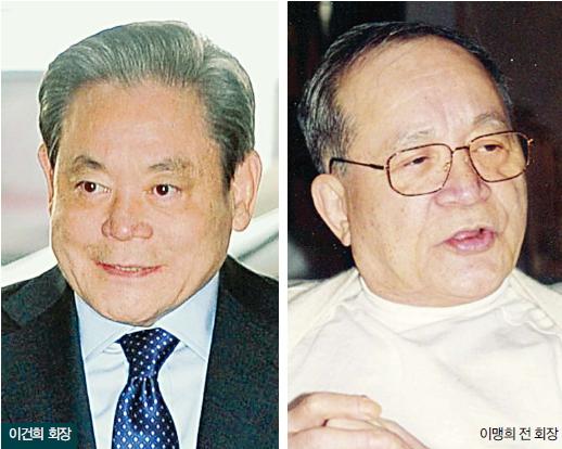 图7:李健熙与李孟熙(右)