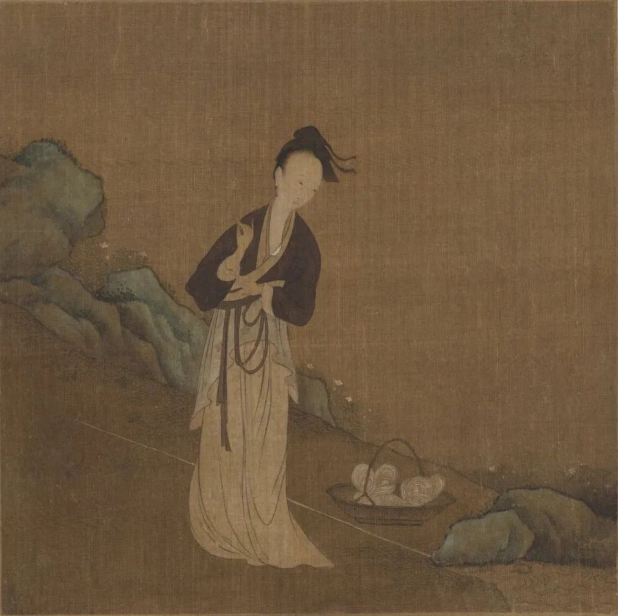 五代 周文矩 西子浣纱图 北京故宫博物院藏