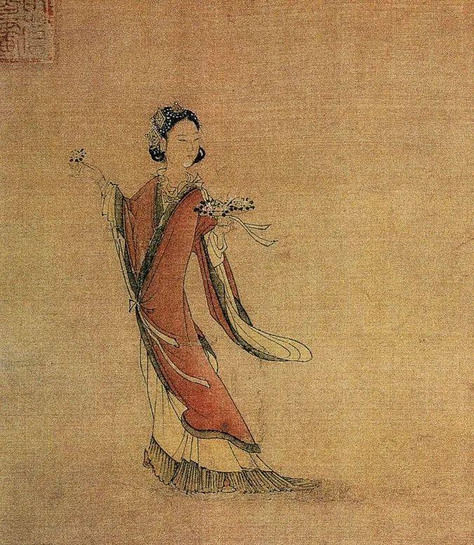 刘松年 天女献花图 局部