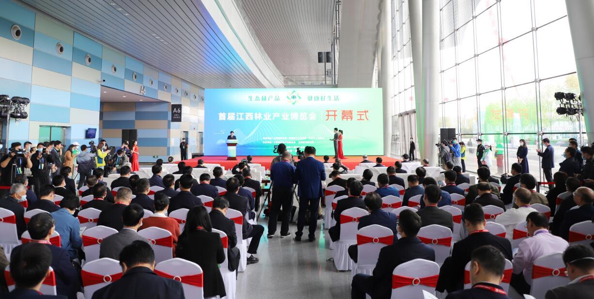 首届江西林业产业博览会现场(袁梓贤摄)