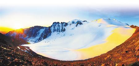 巴尔斯雪山风景
