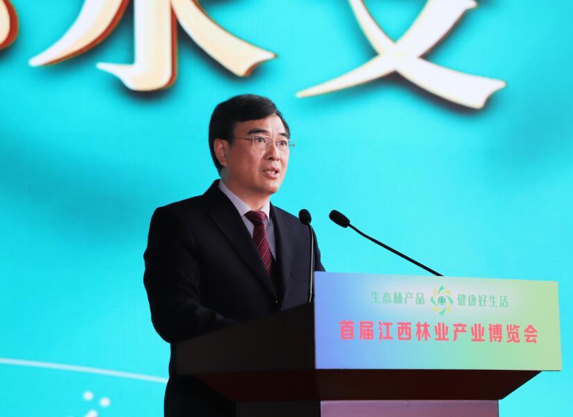 江西省林业局党组书记、局长邱水文(袁梓贤摄)