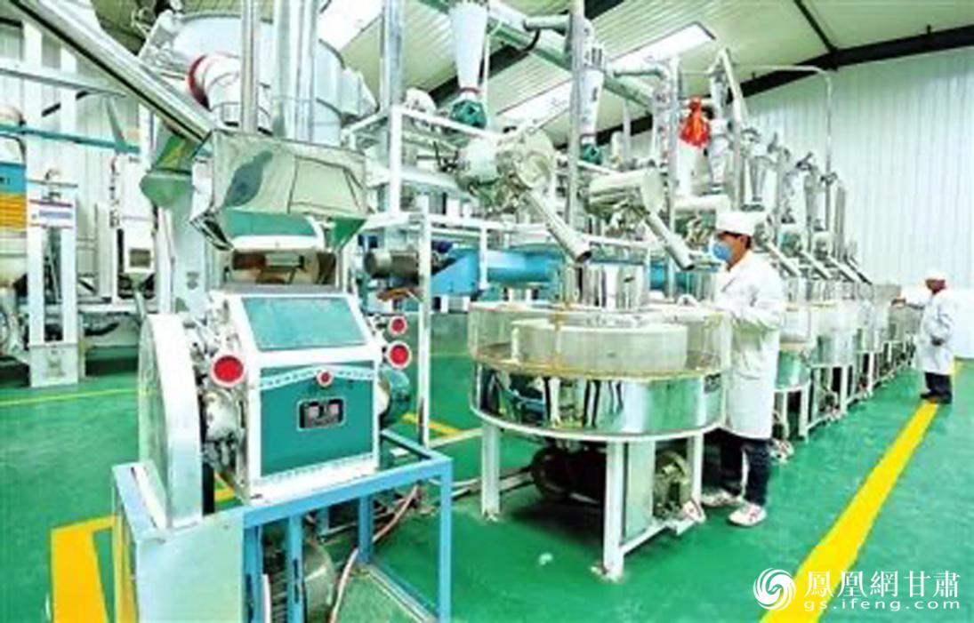 """张掖市50家社属企业中,有3家被总社命名为""""农业产业化重点龙头企业""""。甘肃省供销联社供图"""