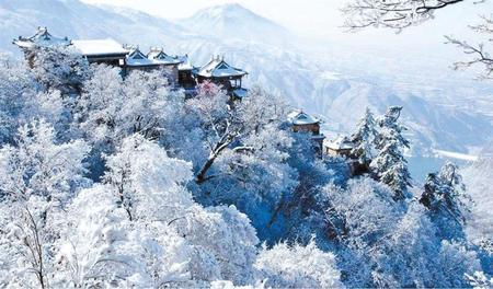 崆峒山 雪景