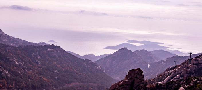 按下快门键 青岛崂山巨峰游览区霜叶美景醉游人