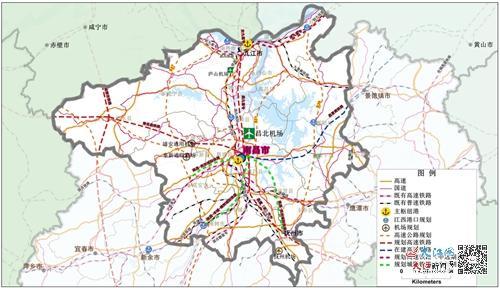 大南昌都市圈综合交通规划示意图