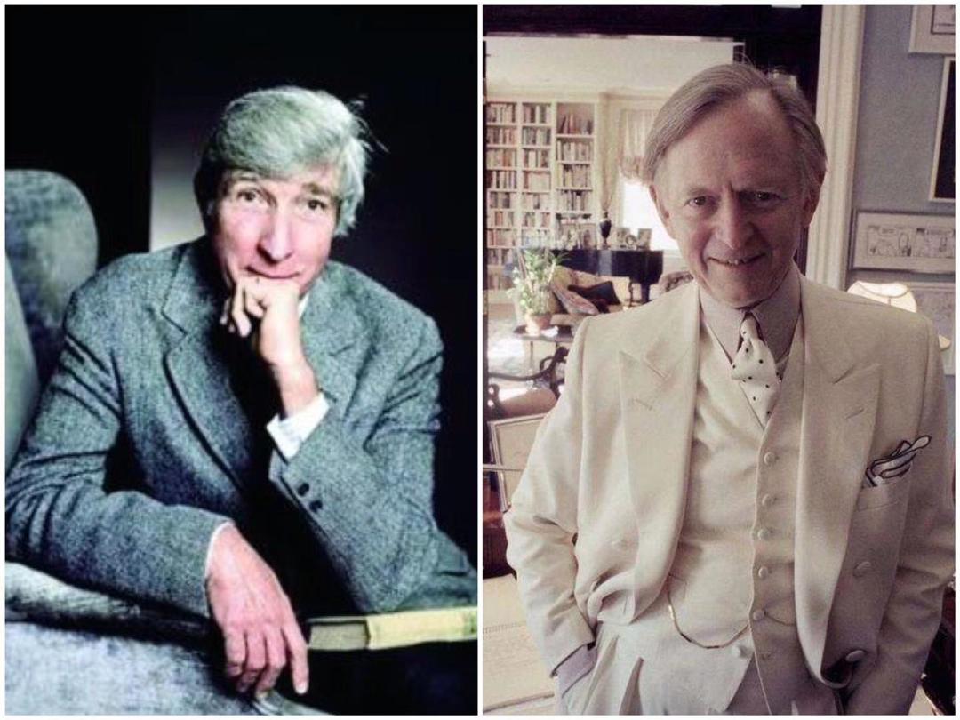 约翰·厄普代克(左)与汤姆·沃尔夫( 右)