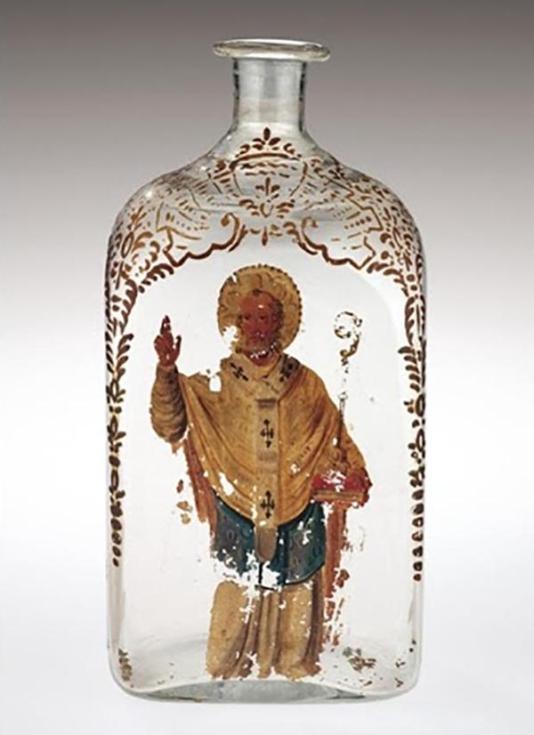 """装""""托法纳仙液""""的玻璃瓶"""