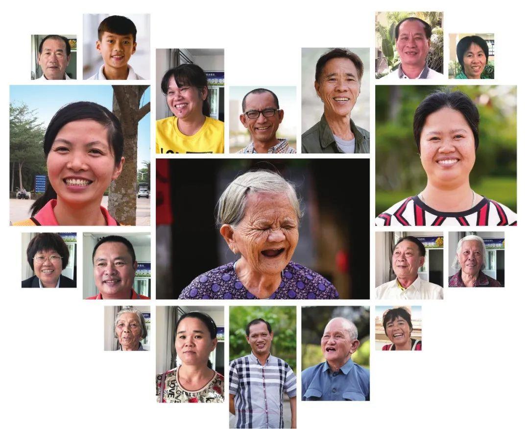 桂林洋新时代文明实践中心的幸福笑脸墙。