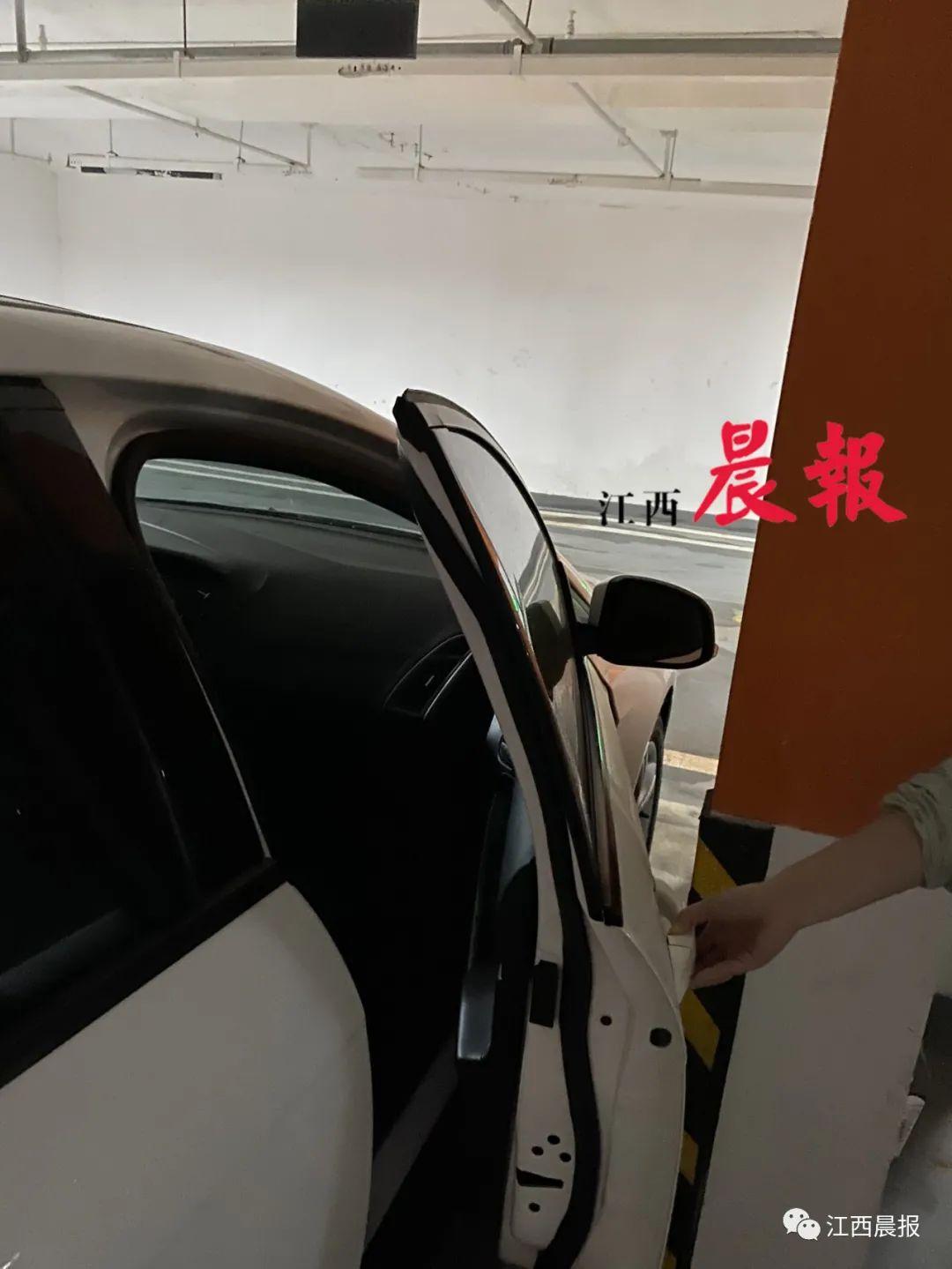 △周先生购买新力铂园地下停车位,竟然打不开副驾驶车门