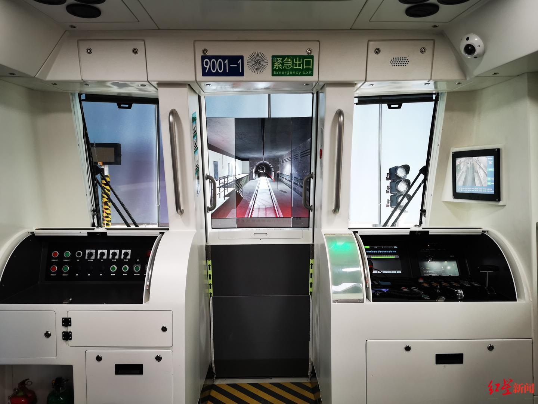 ▲模拟列车内部