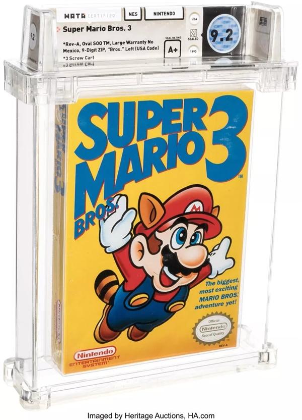 史上最贵游戏达成:《超级马里奥兄弟3》未开封卡带卖出102万天价