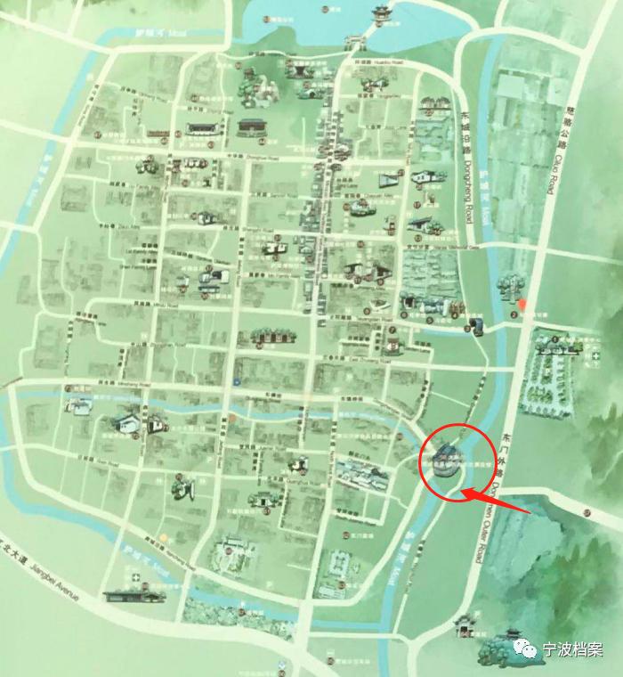 △现古城县导游地图