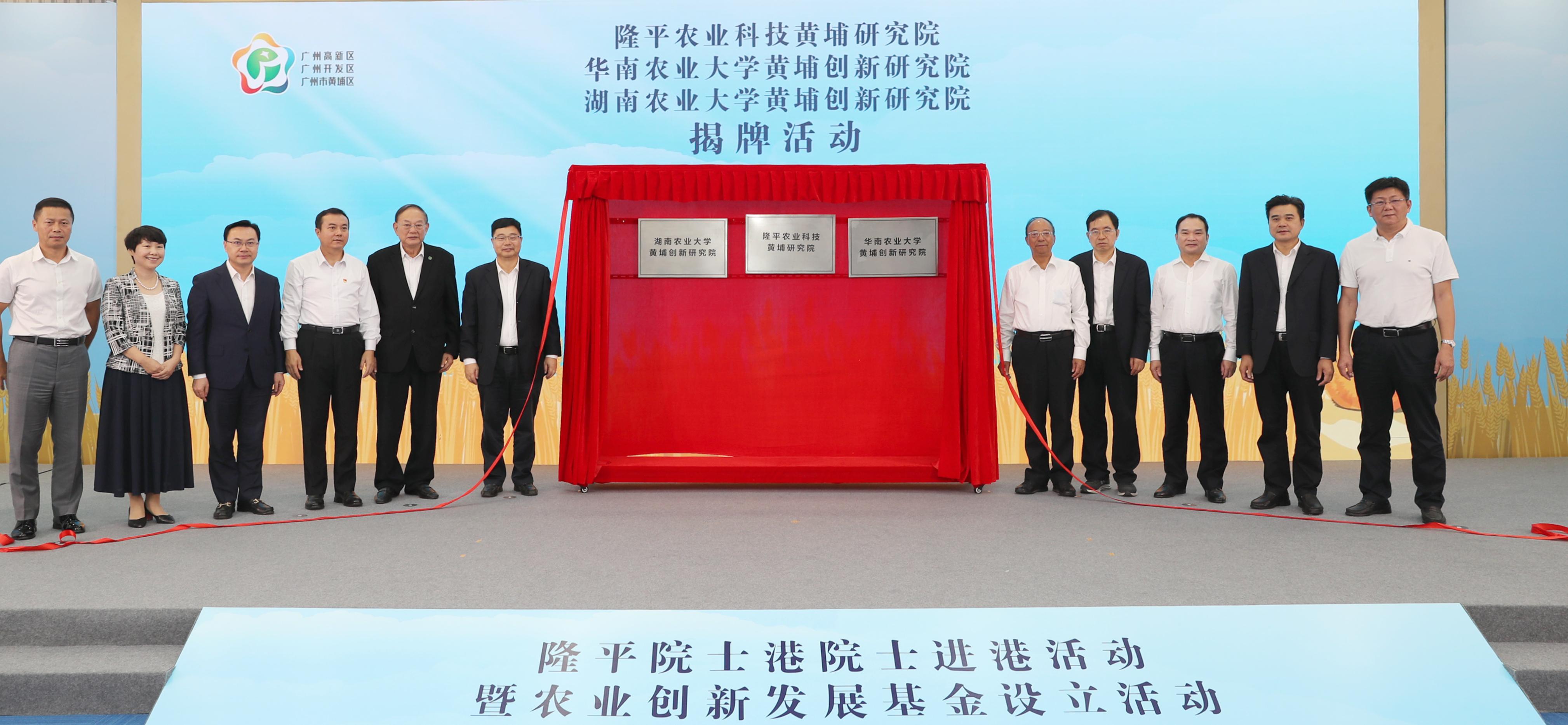 三大研究院揭牌,隆平院士港打造农业科技研发高地。李剑锋 摄