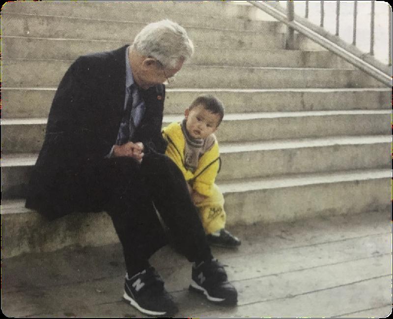 彭士禄给小孙子讲故事