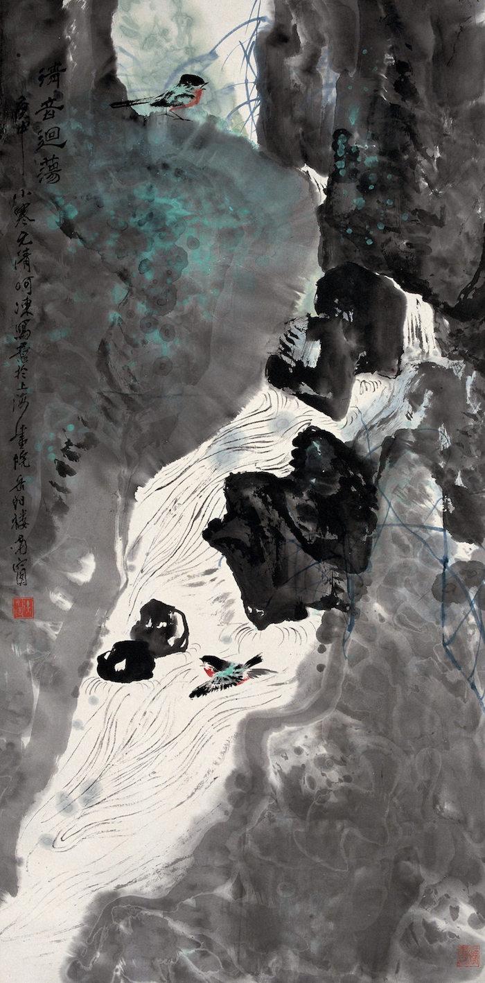 徐元清《清音回荡》 纸本设色  1981年