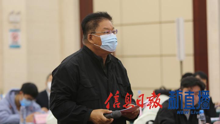 中国日报提问(文颖 摄)