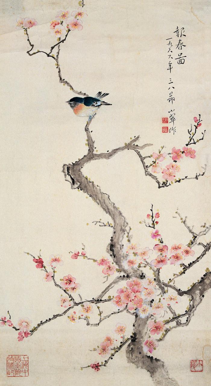 陈小翠《报春图》纸本设色  1966年